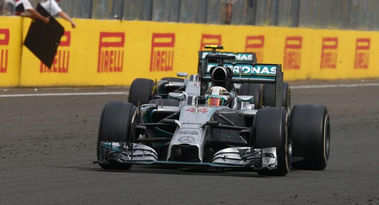 Lewis Hamilton & Nico Rosberg - Mercedes - GP Ungarn 2014