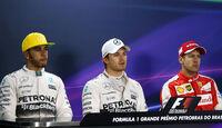 Lewis Hamilton - Nico Rosberg - Sebastian Vettel - Formel 1 - GP Brasilien- 14. November 2015