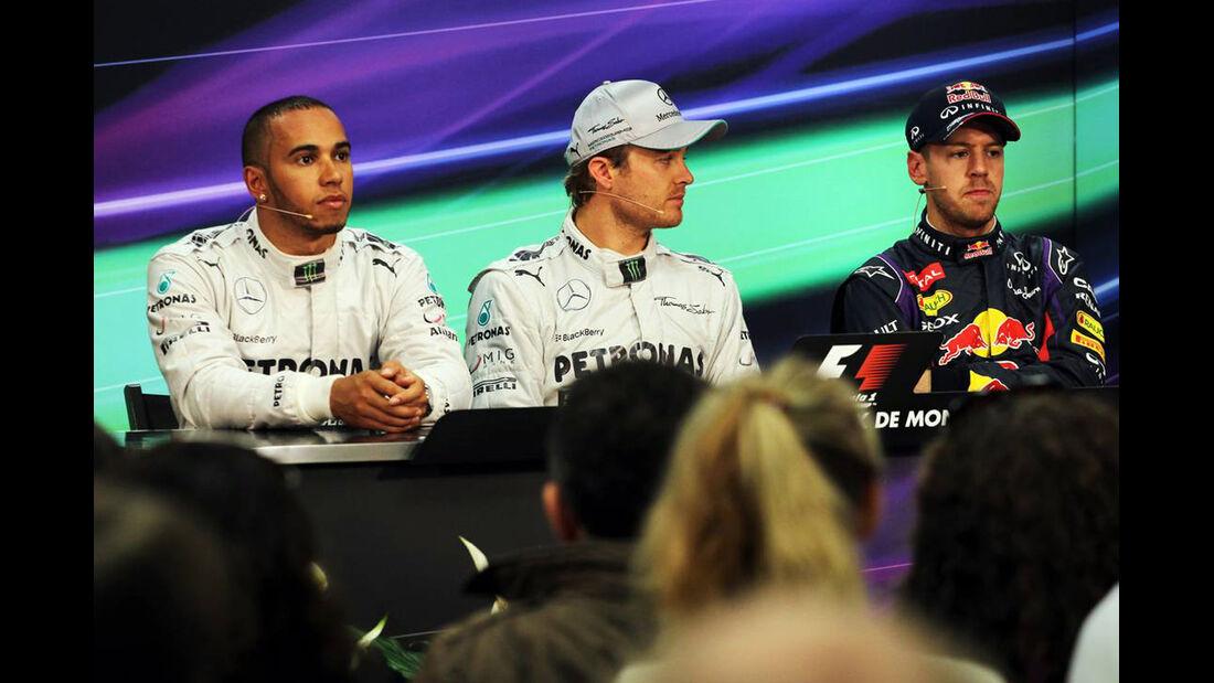 Lewis Hamilton - Nico Rosberg - Sebastian Vettel - Formel 1 - GP Monaco - 25. Mai 2013