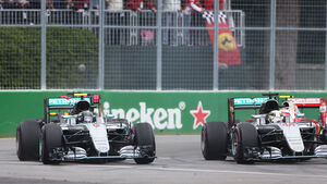 Lewis Hamilton - Nico Rosberg - Start - GP Kanada 2016 - Montreal