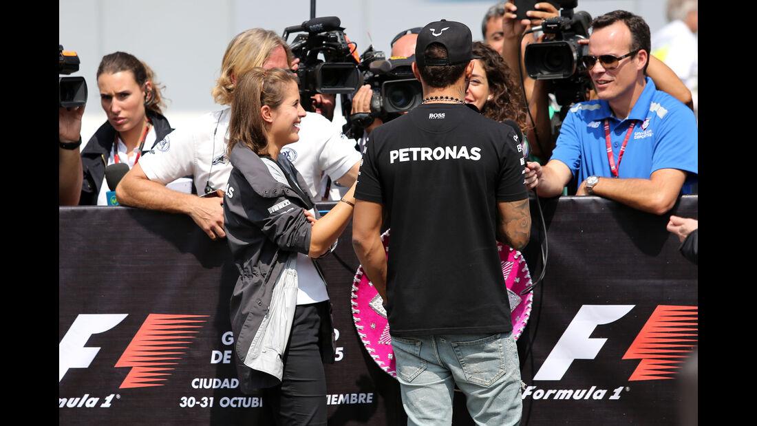 Lewis Hamilton & Nigel Mansell - Formel 1 - GP Mexico - 29. Oktober 2015
