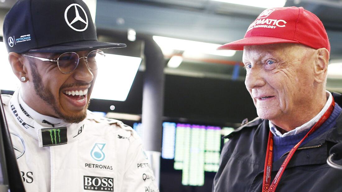 Lewis Hamilton & Niki Lauda 2016