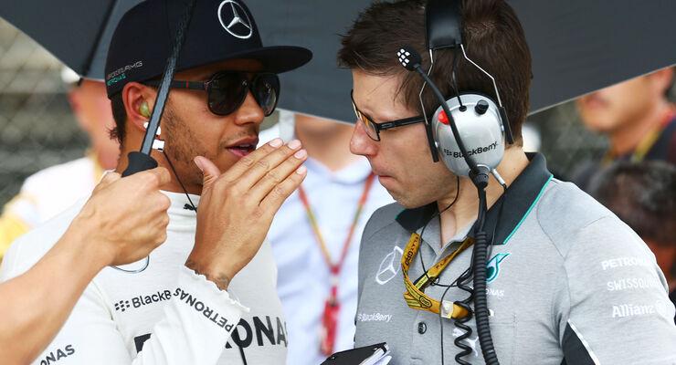 Lewis Hamilton & Peter Bonnington - GP Spanien 2014