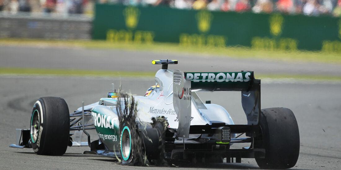 Lewis Hamilton - Reifenschaden GP England 2013