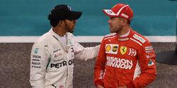 Lewis Hamilton & Sebastian Vettel - GP Abu Dhabi 2018