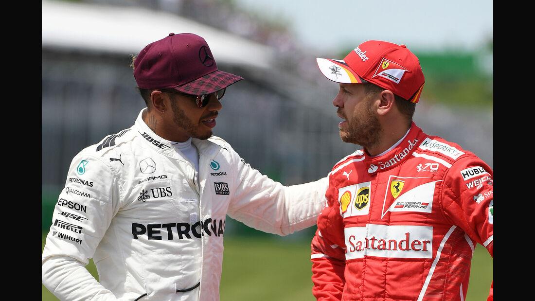 Lewis Hamilton & Sebastian Vettel - GP Kanada 2017