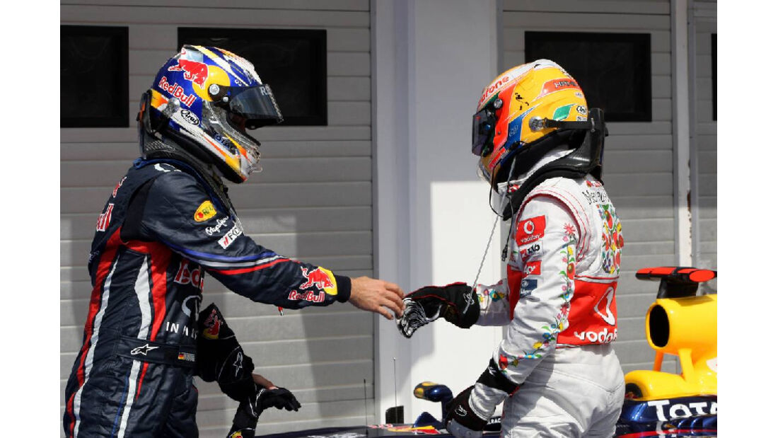 Lewis Hamilton Sebastian Vettel - GP Ungarn - Formel 1 - 30.7.2011