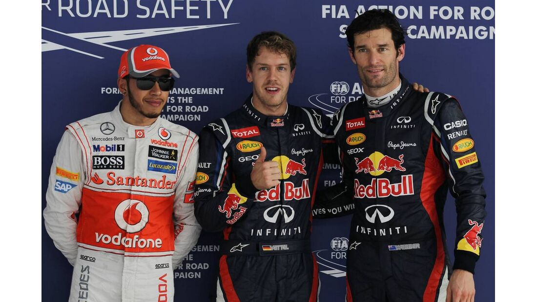Lewis Hamilton Sebastian Vettel Mark Webber - Formel 1 - GP Indien - 27. Oktober 2012