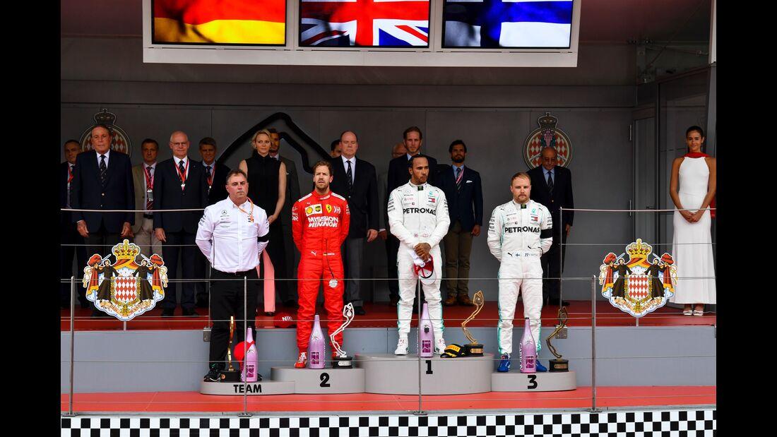 Lewis Hamilton - Sebastian Vettel - Valtteri Bottas - Formel 1 - GP Monaco - 26. Mai 2019