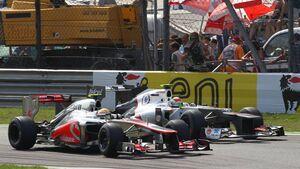 Lewis Hamilton Sergio Perez - Formel 1 - GP Italien - 09. September 2012