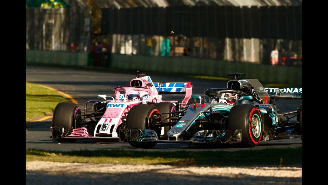 Lewis Hamilton - Sergio Perez - GP Australien 2018