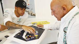 Lewis Hamilton & Stirling Moss - Monza - Mercedes - 2015