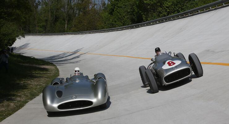 Lewis Hamilton & Stirling Moss - Steilwand Monza - 2015