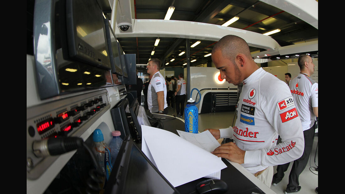 Lewis Hamilton Telemetrie 2012