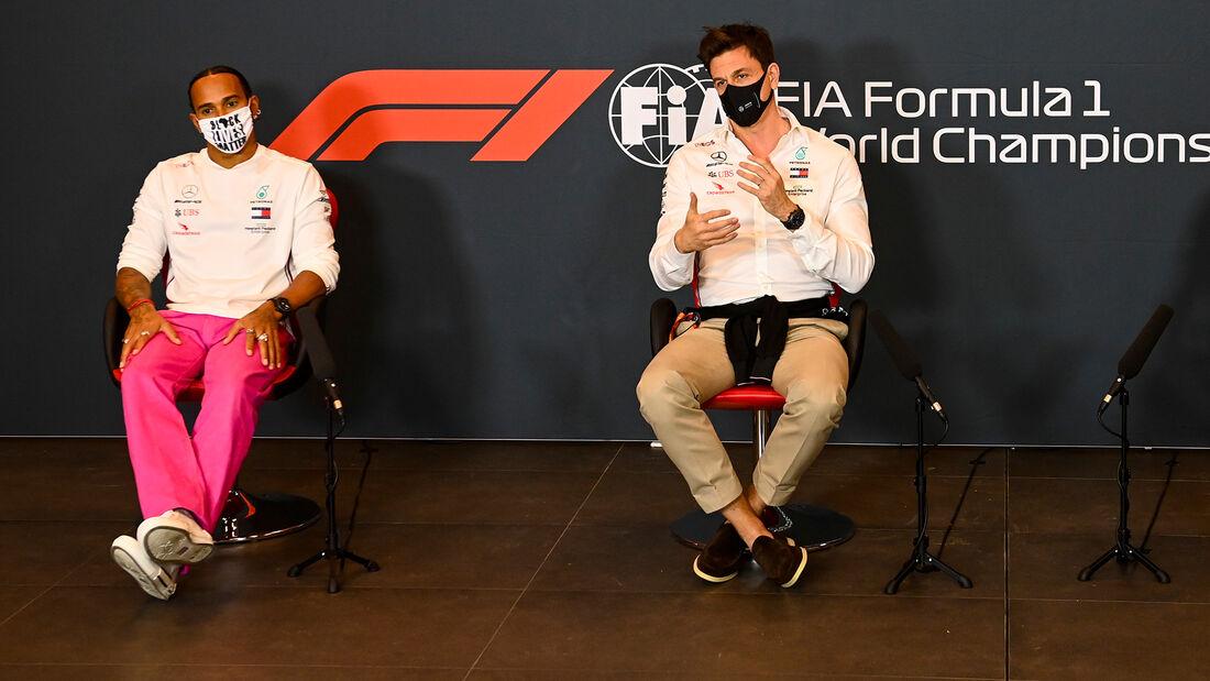 Lewis Hamilton - Toto Wolff - Mercedes - GP Emilia-Romagna 2020 - Imola