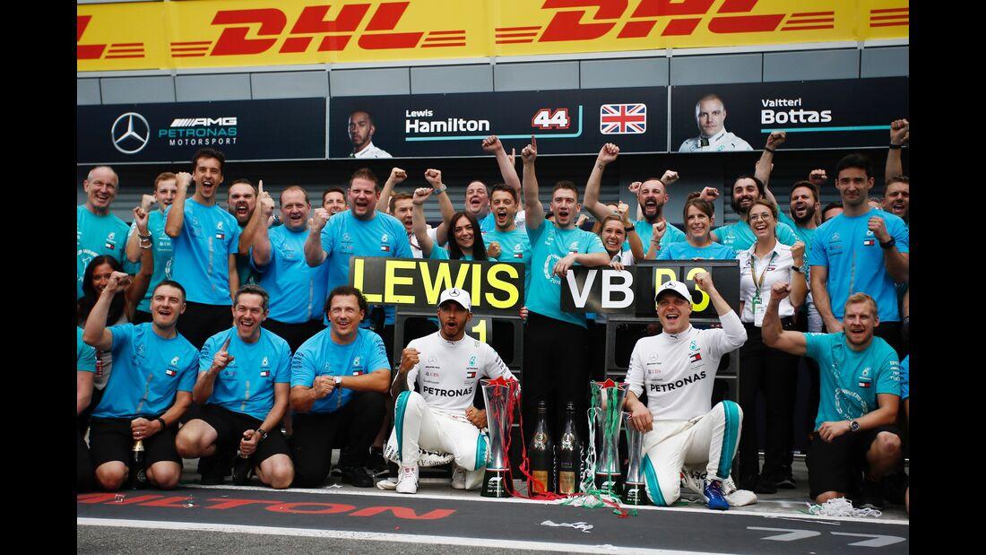 Lewis Hamilton - Valtteri Bottas - Mercedes - Formel 1 - GP Italien - 02. September 2018