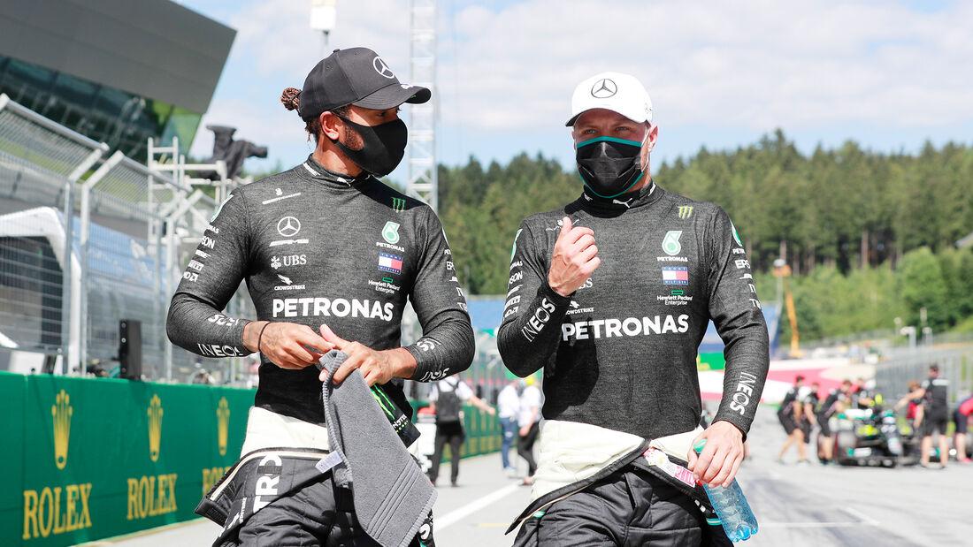 Lewis Hamilton & Valtteri Bottas - Mercedes - Formel 1 - GP Österreich - 4. Juli 2020