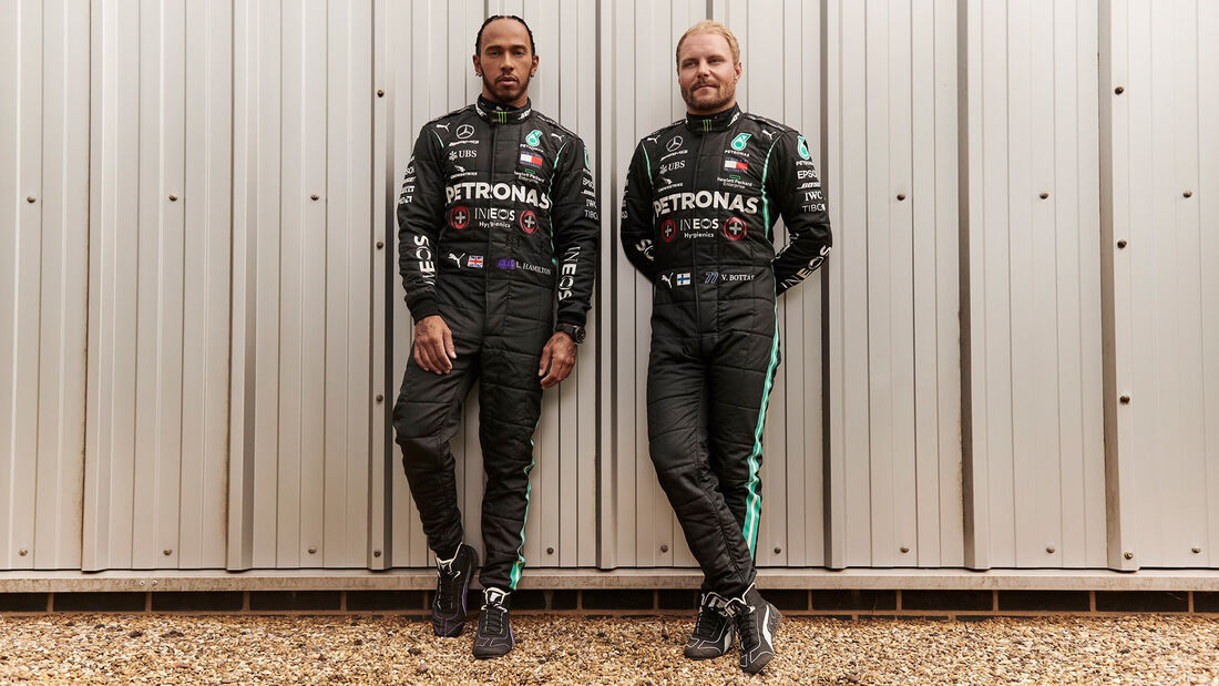 Lewis Hamilton & Valtteri Bottas - Mercedes - GP England  - Silverstone - 30. Juli 2020