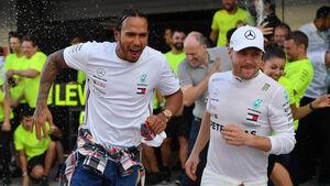 Lewis Hamilton - Valtteri Bottas - Mercedes - GP Russland 2019 - Sotschi - Rennen