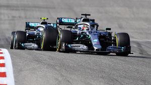 Lewis Hamilton - Valtteri Bottas - Mercedes - GP USA 2019 - Austin - Rennen