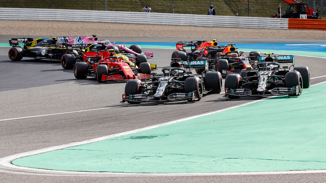 Lewis Hamilton - Valtteri Bottas - Mercedes - Start - GP Eifel 2020 - Nürburgring