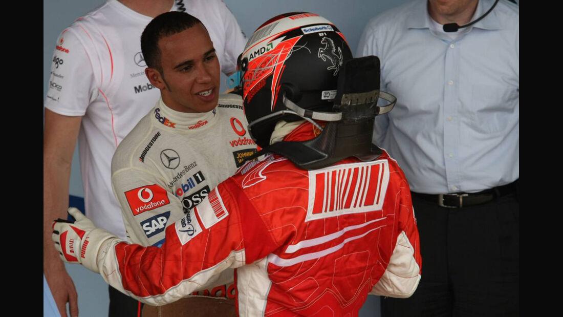 Lewis Hamilton und Kimi Räikkönen2007
