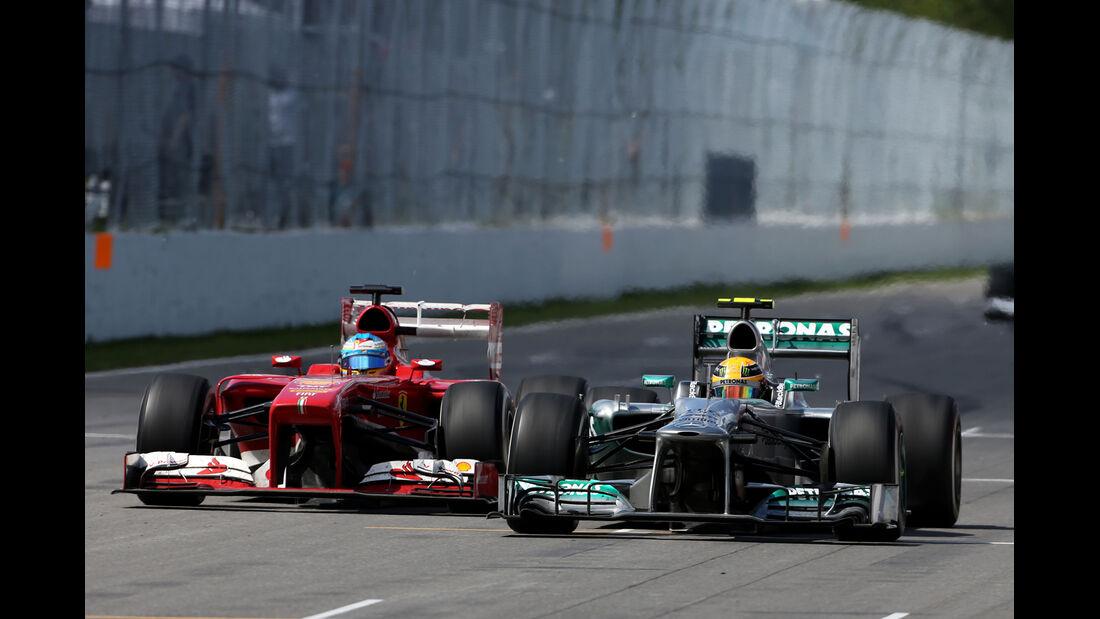 Lewis Hamilton vs. Fernando Alonso - GP Kanada 2013