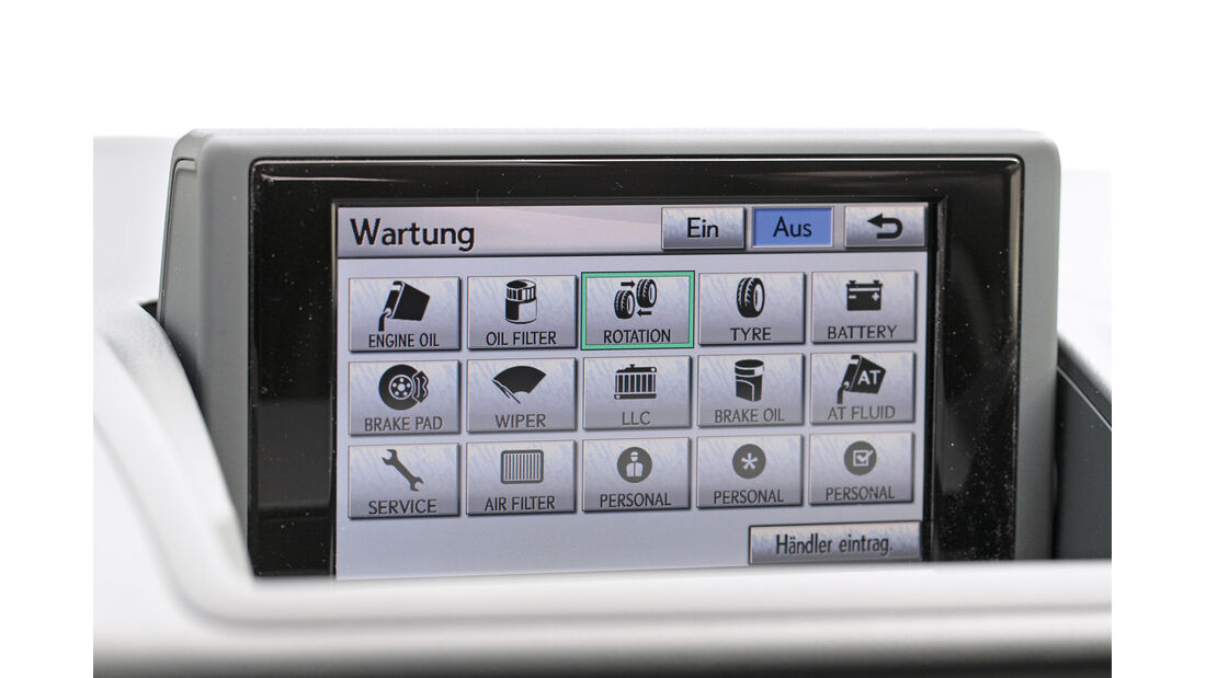 Lexus CT 200h Hybrid Drive, Bordcomputer, Bildschirm