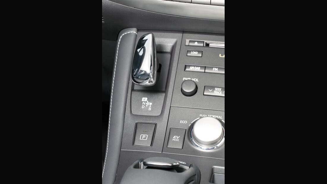 Lexus CT 200h Hybrid Drive, Mittelkonsole, Detail