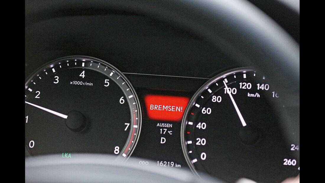 Lexus GS 250, Warnleuchte