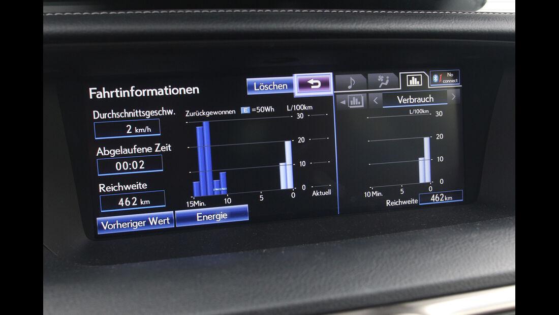 Lexus GS 450h F-Sport, Fahrtinformationen, Display