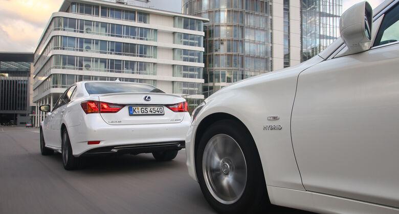 Lexus GS 450h F-Sport, Infiniti M35h GT Premium, Fahrt