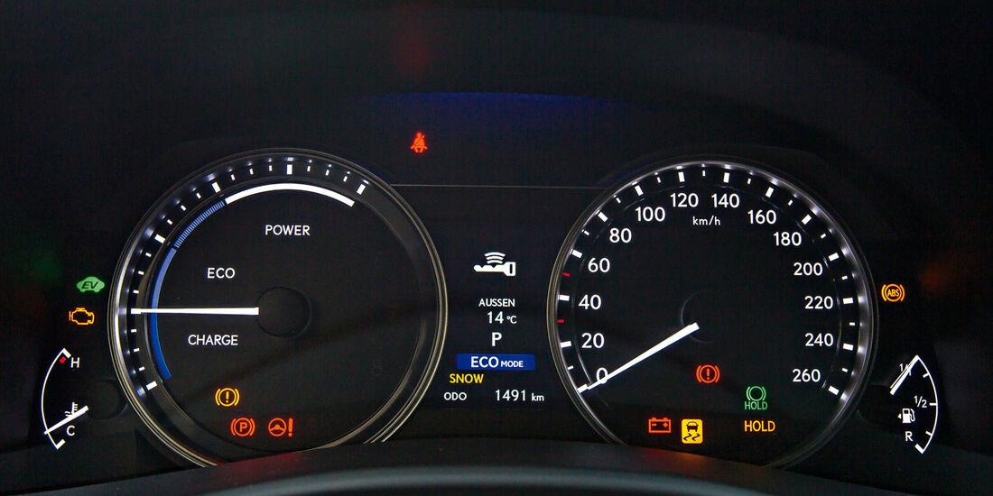 Lexus GS 450h, Rundinstrumente