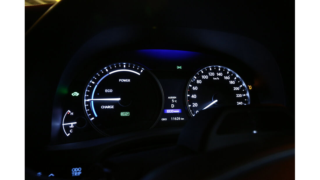 Lexus GS 450h, Tacho, Rundinstrumente
