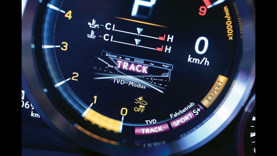 Lexus GS F, Anzeigeinstrumente