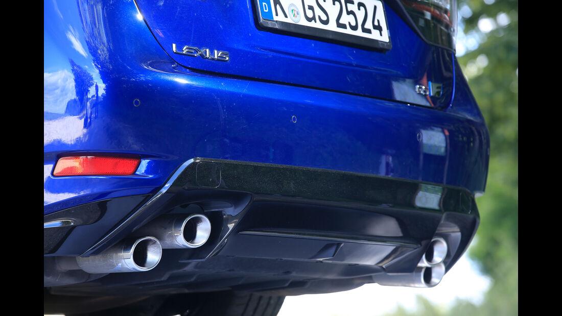 Lexus GS F, Auspuff, Endrohre