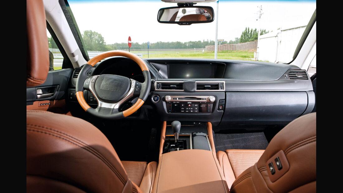 Lexus GS Hybrid, Cockpit, Innenraum, Lenkrad