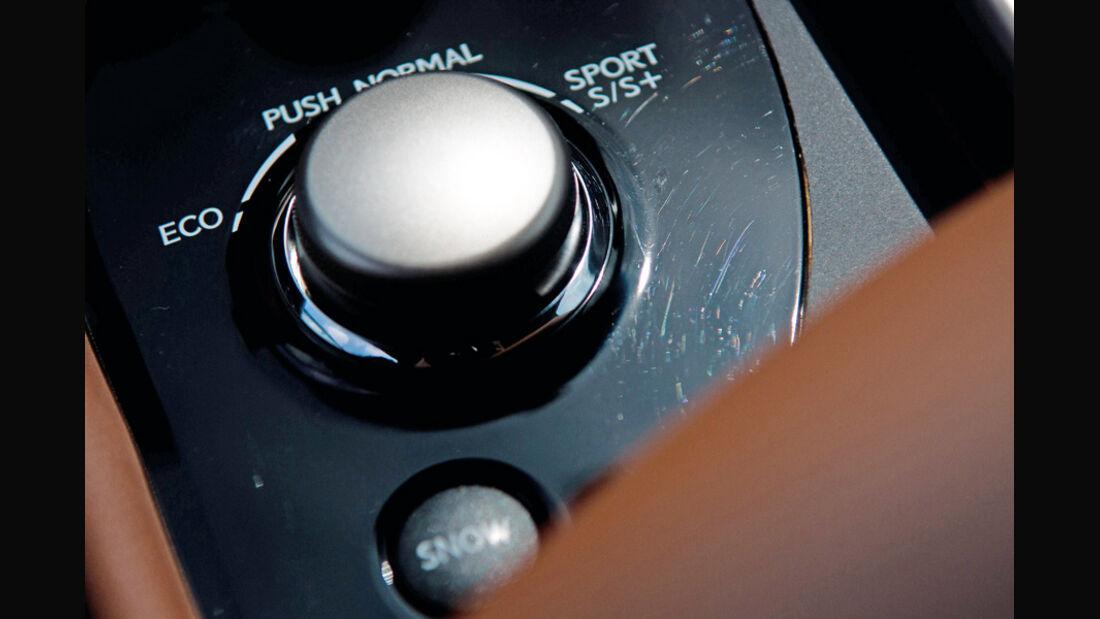 Lexus GS Hybrid, Schalter, Fahrprogramme