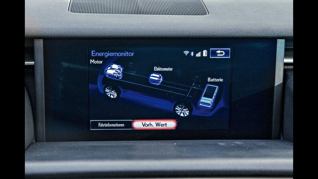 Lexus IS 300h, Eco-Anzeige, Infotainment