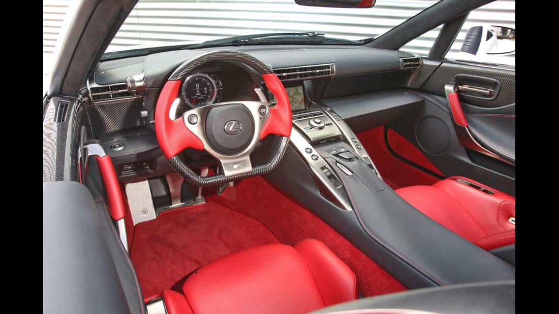 Lexus LFA, Innenraum, Cockpit