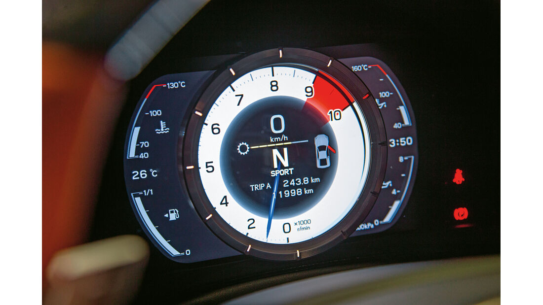 Lexus LFA Nürburgring Edition, Rundinstrument