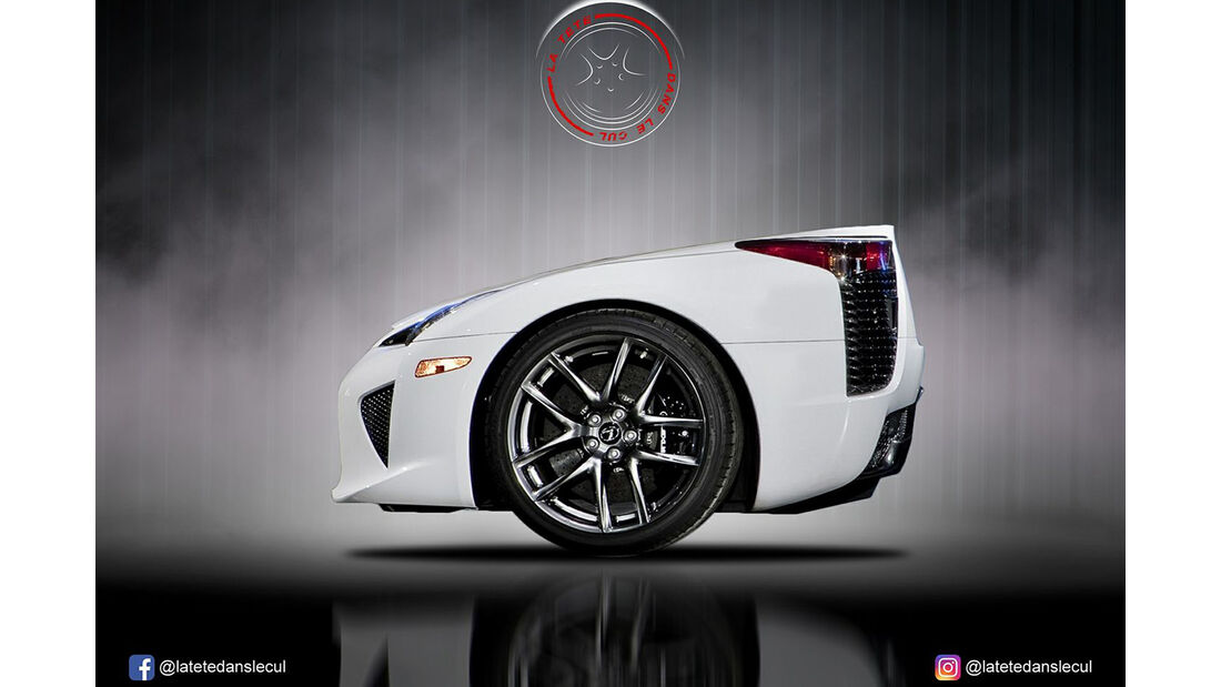 Lexus LFA Retusche
