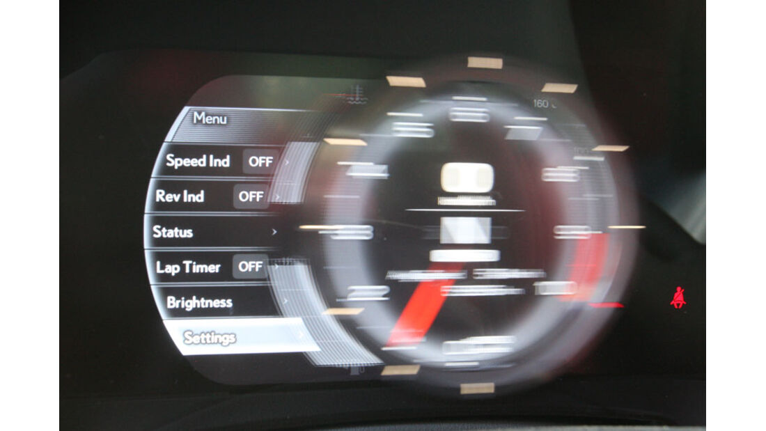 Lexus LFA, Zentraldisplay