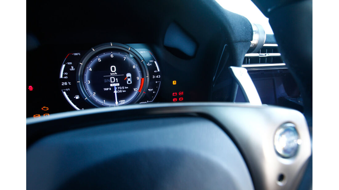 Lexus LFA mit Nürburgring Package, Rundinstrument, Tacho