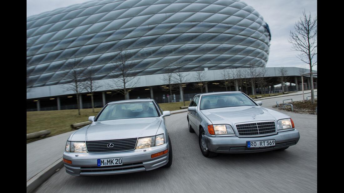 Lexus LS 400, Mercedes-Benz 400 SEL, Frontansicht