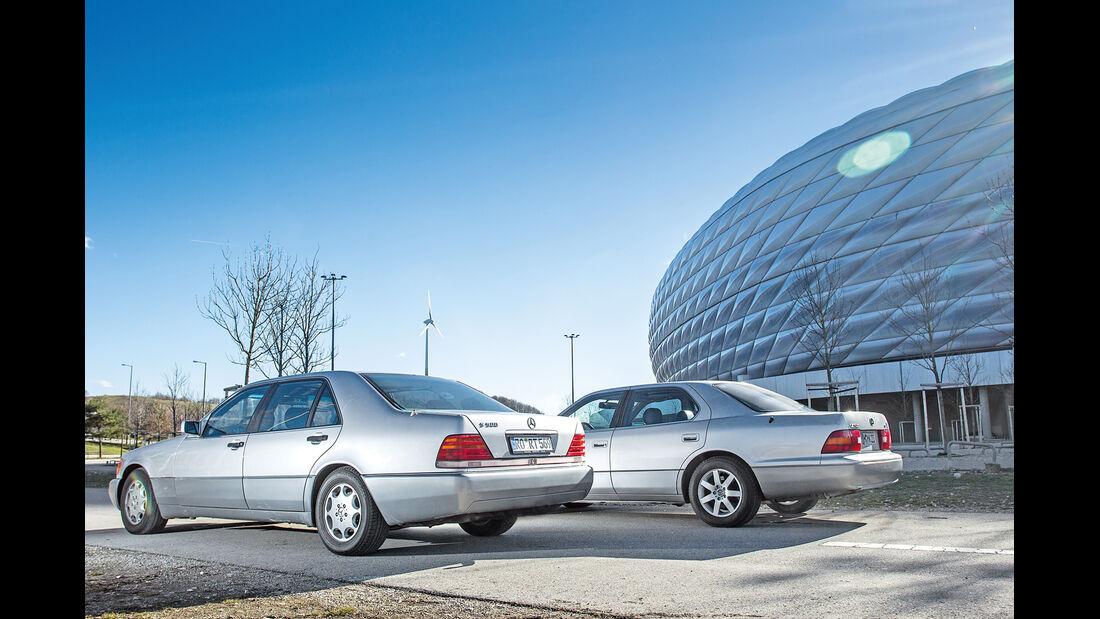 Lexus LS 400, Mercedes-Benz 400 SEL, Heckansicht
