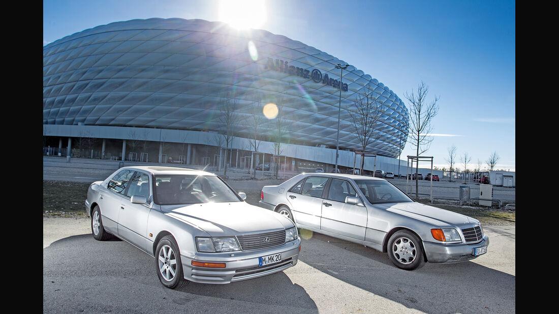 Lexus LS 400, Mercedes-Benz 400 SEL, Seitenansicht