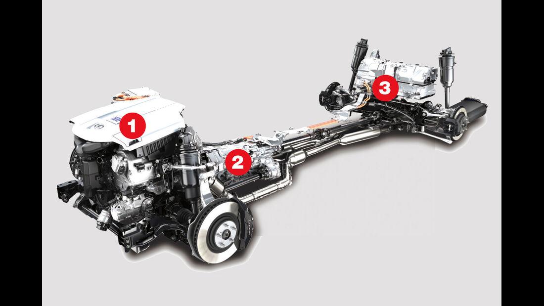Lexus LS 600h F-Sport, Antrieb