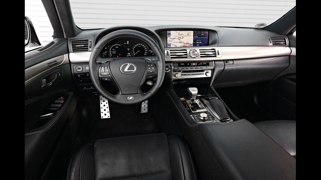 Lexus LS 600h F-Sport, Cockpit, Lenkrad