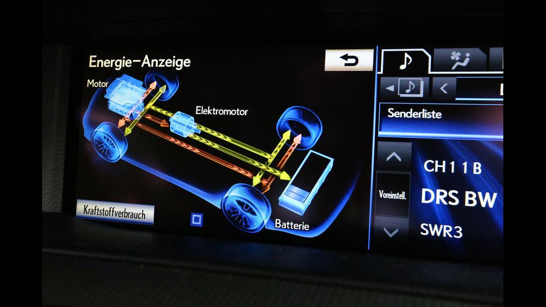 Lexus LS 600h F-Sport, Display, Bordcomputer